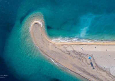 Zlatni rat beach after the storm