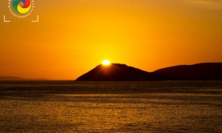 Sunset over Ciovo island